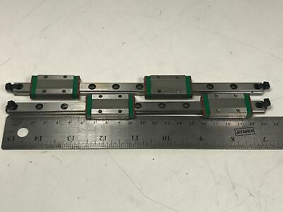 Pair Hiwin Linear Guide Bearing & Rail System 210mm Slide Way MGN9HH MGN09HH
