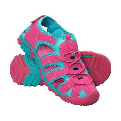 MW Girls Bright Pink Blue Bay Kids Holiday Shandals Summer Sandals Shoes