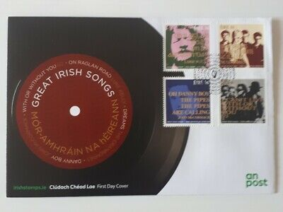 Great Irish Songs First Day Cover Stamps Collectors U2 Cranberries