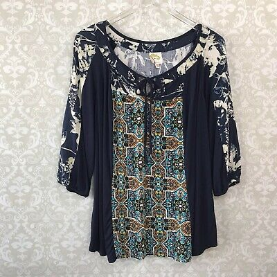 b8f024ab1f010c Fig and Flower Anthropologie Women's Stretch Knit Top Blouse Plus Size 2X