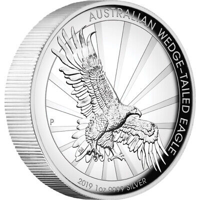 2019 Australian Wedge-Tailed Eagle 1oz Silver High Relief Coin