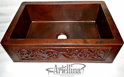 Terrific Ariellina Farmhouse 14 Gauge Copper Kitchen Sink Lifetime Interior Design Ideas Inesswwsoteloinfo
