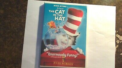 Dr. Seuss' The Cat In The Hat (DVD, 2004, Full Screen Edition) DVD MOVIE & CASE