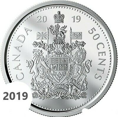CANADA 2019 New 50 cents Coat of Arms of CANADA (BU directly from mint roll)