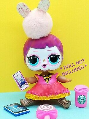 9 PCS LOL SURPRISE DOLL ACCESSORIES  Custom Starbucks Cell Clothes Lot Bow