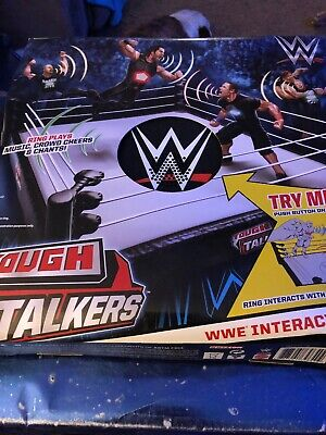 WWE Wrestling DXH00 Tough Talkers Interactive Action Figure Fighting Ring Set