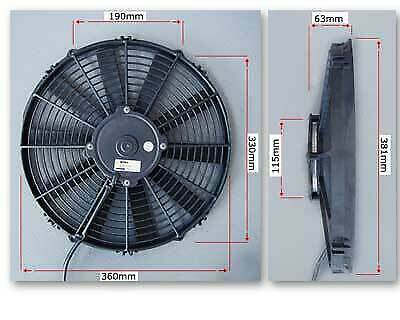 PWR SPAL 14in Fan - Straight Blade 1310CFM PWAC14ST