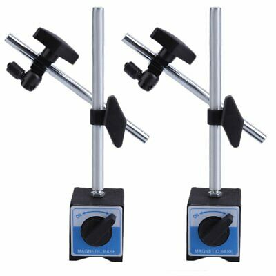 (Qty 2) 3D Deluxe MAGNETIC BASE Holder for Dial Test Indicator 132lbs Force BT