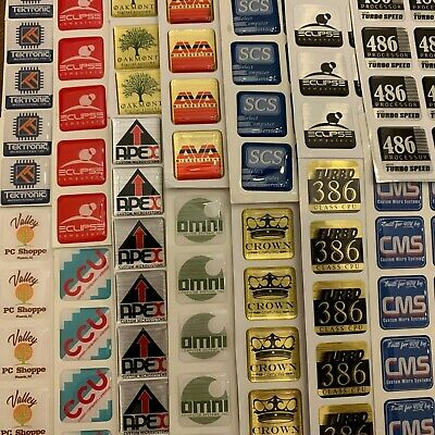 LOT OF 10 Computer Case Stickers Badges Labels Intel Core i5