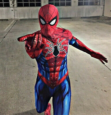 New Spiderman Costume 3D Printed Spandex Spider-Man Cosplay Suit For Adult/Kids