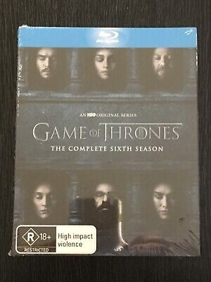 GAME OF THRONES- THE COMPLETE SIXTH SEASON [BRAND NEW SEALED] Bluray Disc