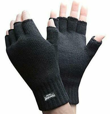 3M Thinsulate Fingerless  Glove Thermal Knitted AcrylicBlack Knit Winter Work