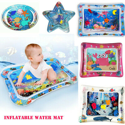 Inflatable Water Play Mat Infants Baby Toddlers Kid Perfect Fun Tummy Time 5 S#