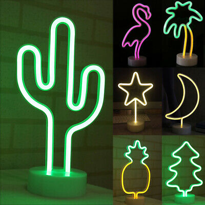 LED Neon Sign Light Desk Table Night Lamp Visual Artwork Home Party Decor Gift