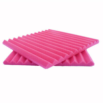 30 Pack Soundproofing Foam Wall Panels Acoustic Wedge tiles for Studio KTV PINK