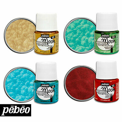Pebeo FANTASY MOON Stunning Marble Effect Craft Paint 45ml Pots
