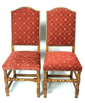 Pair of Vintage Oak Bobbin Leg Chairs [5278A]