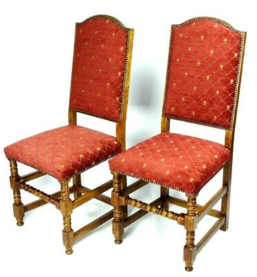 Pair of Vintage Oak Bobbin Leg Chairs [5278B]