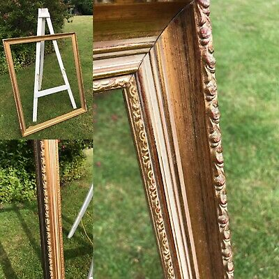 OLD Ornate Picture Painting Frame Antique Gilt Gold VERY LARGE