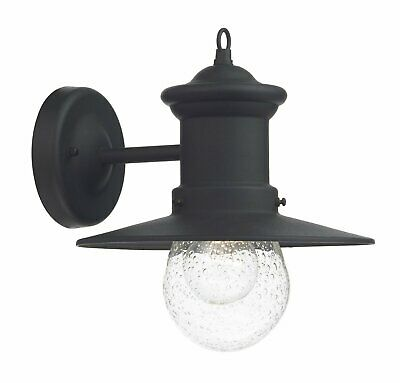 Dar Lighting 1 Light Outdoor Fisherman Light BlackMetal 24cm H x 23cm W x 26cm D