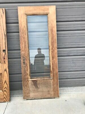 An548 Antique Stripped  Beveled Glass Entrance Door 31 5/8 X 79 3/4