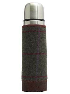 Joules Tweed Covered Thermos Picnic Flask - Green Tweed
