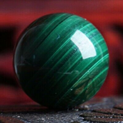 1pc 50mm Malachite Green Gemstone Ball Crystal Sphere Healing Magical Decor