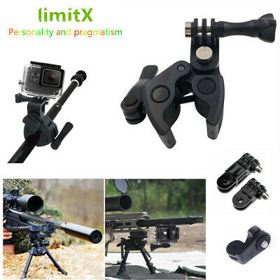 Gun Fishing Rod Bow Archery Rifle Barrel Fixing Clamp Mount for Sport Action cam