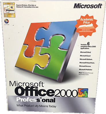 MICROSOFT OFFICE 2000 Professional Upgrade Version with COA