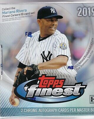 2019 Topps Finest Hobby Box Factory Sealed