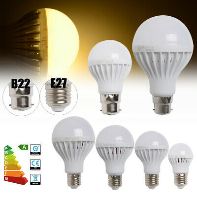 5X E27 B22 3W 5W 7W 9W 12W LED Globe Light Bulb Golf Ball Lamps Warm Day White