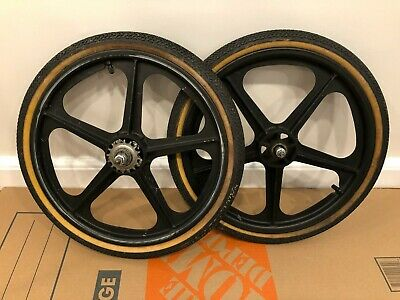VTG Skyway Black Tuff Wheel Mags, Font/Rear Set, Coaster Brake