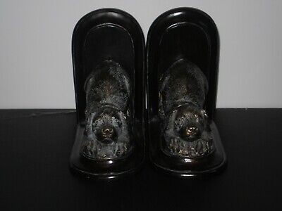 Vintage Brass Cockier Spaniel Dog Book Ends 1950'S