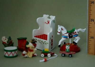 VTG Lot Dollhouse Miniature Children Christmas TOYS Rocking Chair Horse Figurine