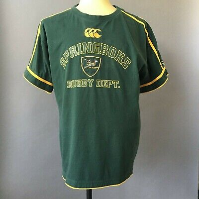 10aaab16db4 South Africa Springboks Rugby Jersey XL Licensed Embroidered Patch & Logo  Green