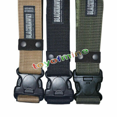 Mens Adjustable Survival Tactical Belt Emergency Rescue Rigger Military Army New