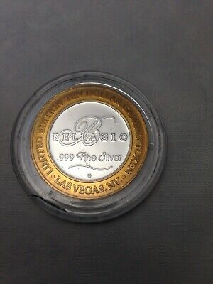 Bellagio Las Vegas Limited Edition Silver Token .999 Fine Silver $10