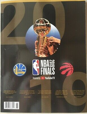 2019 Nba Finals Program Championship Toronto Raptors Champions Champs Warriors