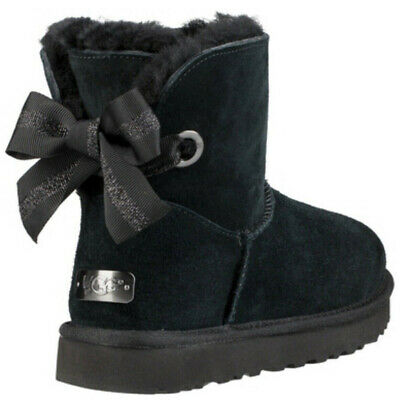 51b1974e606 UGG AUSTRALIA CUSTOMIZABLE Bailey Bow Mini Shearling Boots Chestnut ...