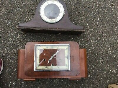 Vintage Domed Mantel Clock,and And another Clock Spares or Repair