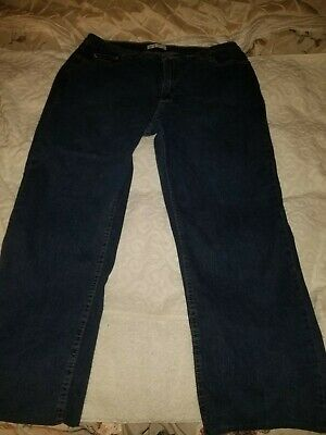 c822e5fc Riders by Lee relaxed fit straight leg size 16M womens jeans euc FREE  shipping