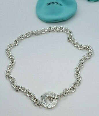 2ecae6d43 TIFFANY & CO 1837 Toggle Clasp Necklace Round Circle Charm Necklace ...