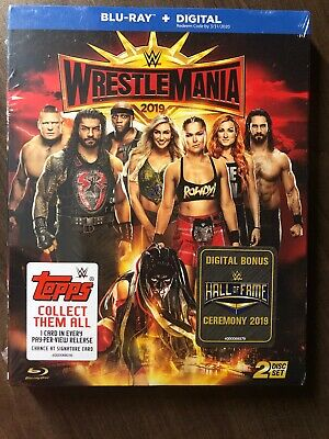 WrestleMania 2019 35 2 Disc Set Blu-Ray w Slipcover Canada NO DC LOOK XXXV