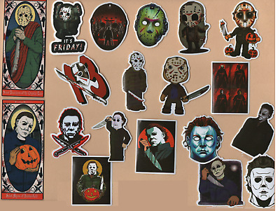 HORROR MOVIE Stickers Buy 1 get 1 FREE Gore SLASHERS Occult MACABRE Haunting