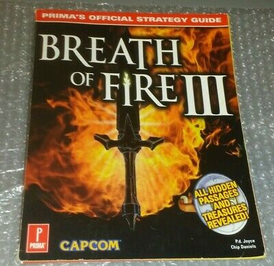 Breath of Fire III 3 Official Strategy Guide 1998 Paperback PS1 Playstation 1