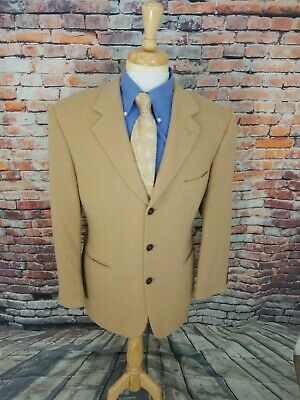 Brooks Brothers 346 41R Tan Brown 3 Button CAMELHAIR Sport Coat Blazer Jacket