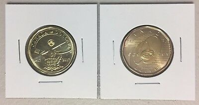 CANADA 2017 New 2 x Loonie Kit 100th Montreal 1909-2009 Toronto 1917-2017 (UNC)