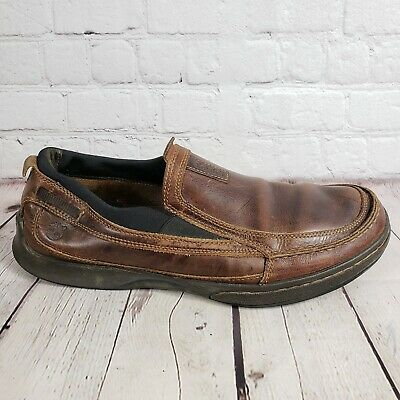 03744dc8a1 TIMBERLAND 80533 SMART Comfort Brown Leather Slip On Boat Loafers ...