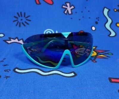 Vintage 80s Sunglasses Polarized Shield Visor 90s Goggles Neon Party Rave Cyber