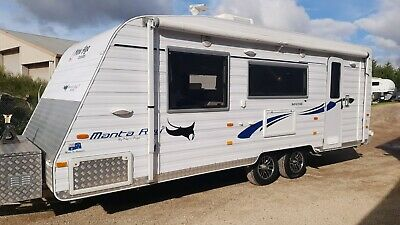 2014 New Age Manta Ray Caravan Shower Toilet Solar - Damaged